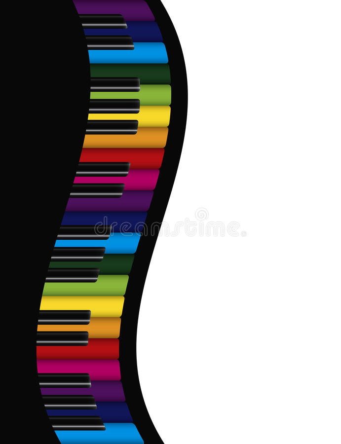 Download Piano Wavy Border With Colorful Keys Illustration Stock Vector - Image: 34838156