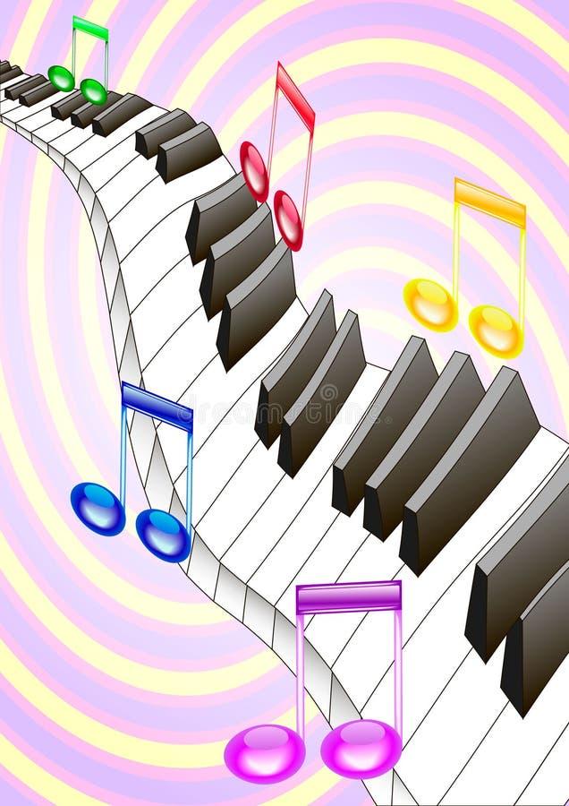 Piano Y Música Fotos de archivo libres de regalías