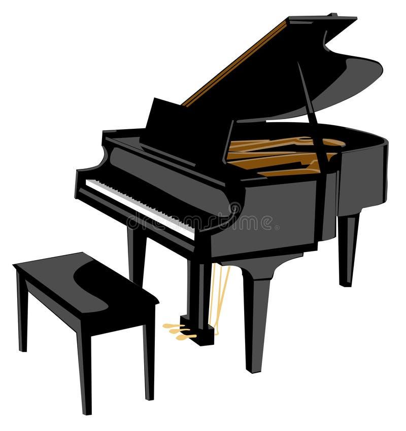 piano1 向量例证