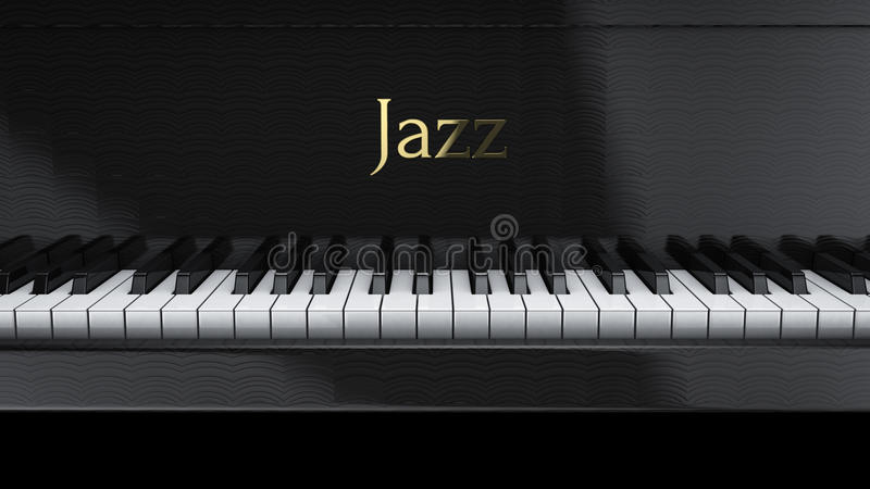 Pianojazz stock illustrationer