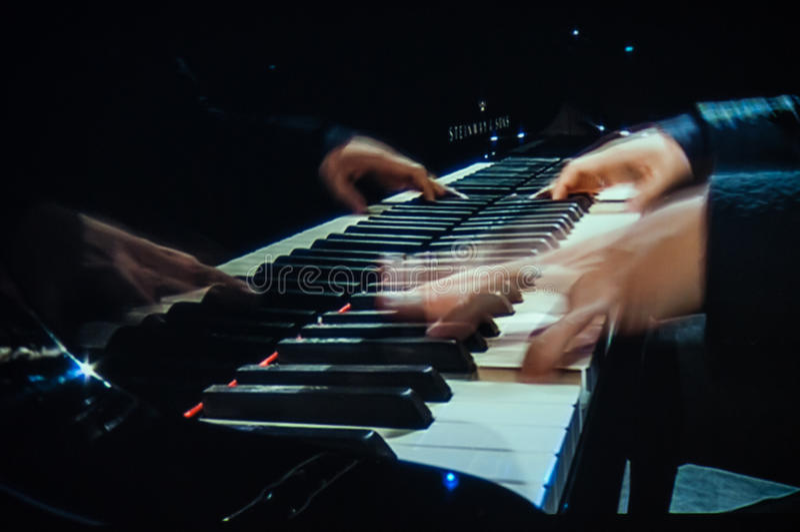 Pianokonsert royaltyfria foton