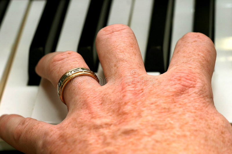 pianoman 免版税库存照片