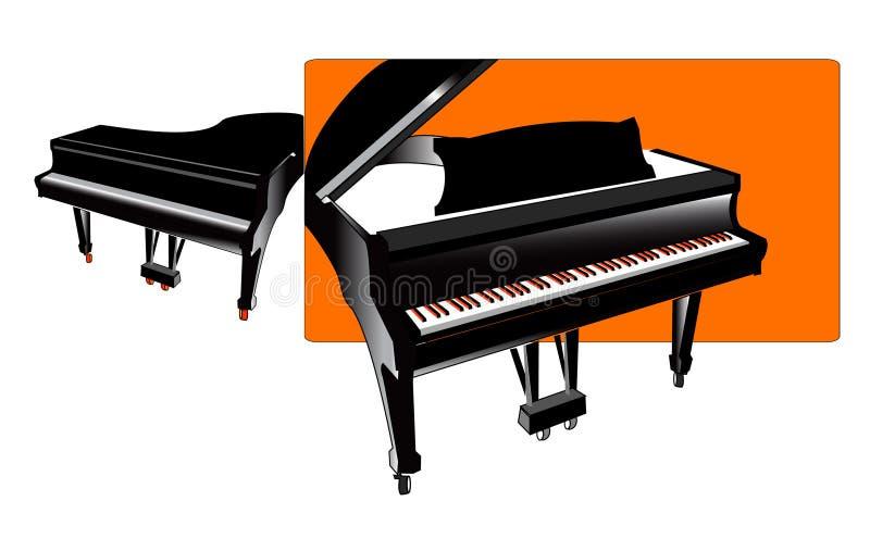 pianon stock illustrationer