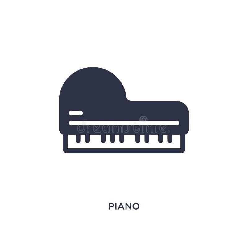 Pianopictogram op witte achtergrond Eenvoudige elementenillustratie van wild het westenconcept vector illustratie
