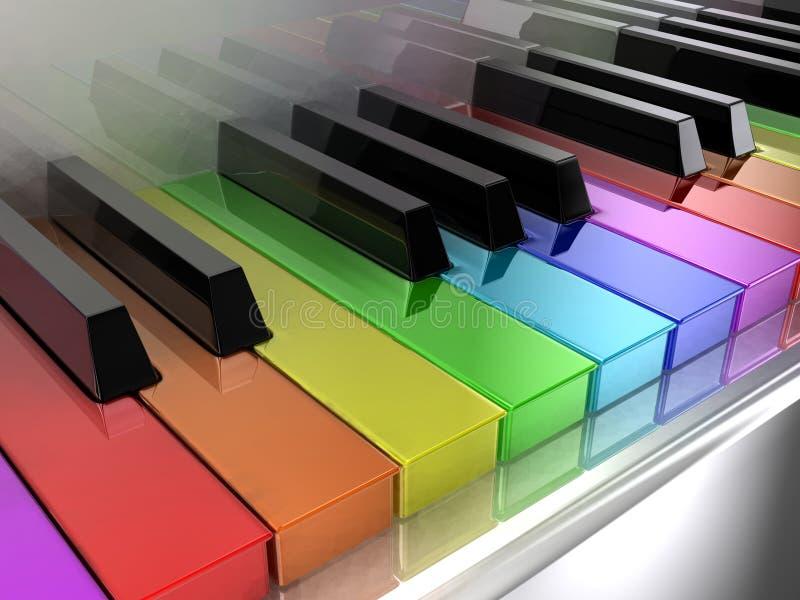 pianoregnbåge stock illustrationer