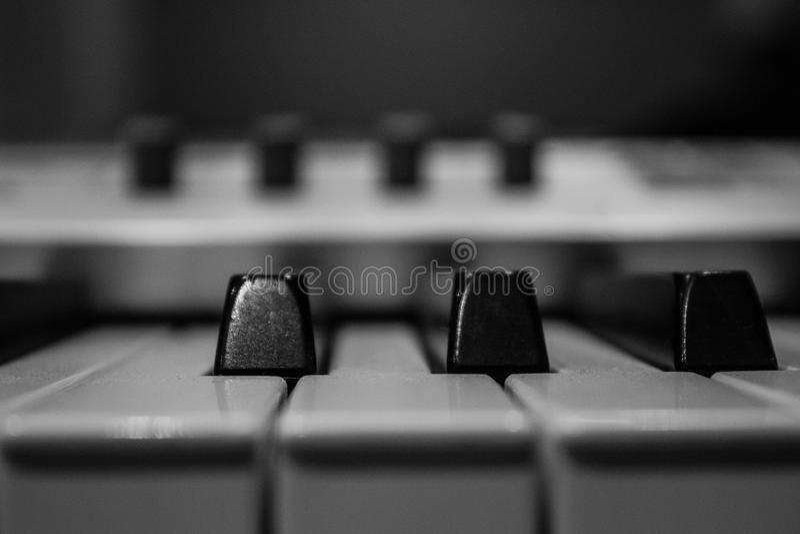 PianosÂ'Key fotografia stock