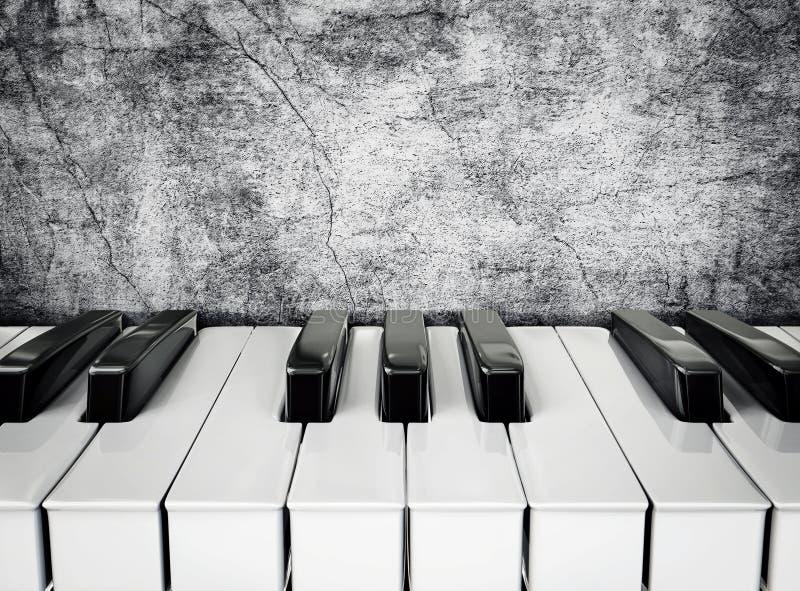 Pianosleutels royalty-vrije illustratie