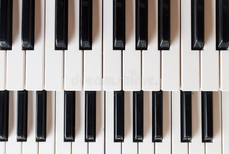 Pianosleutels stock fotografie