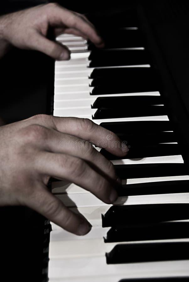 Pianospelare royaltyfri bild