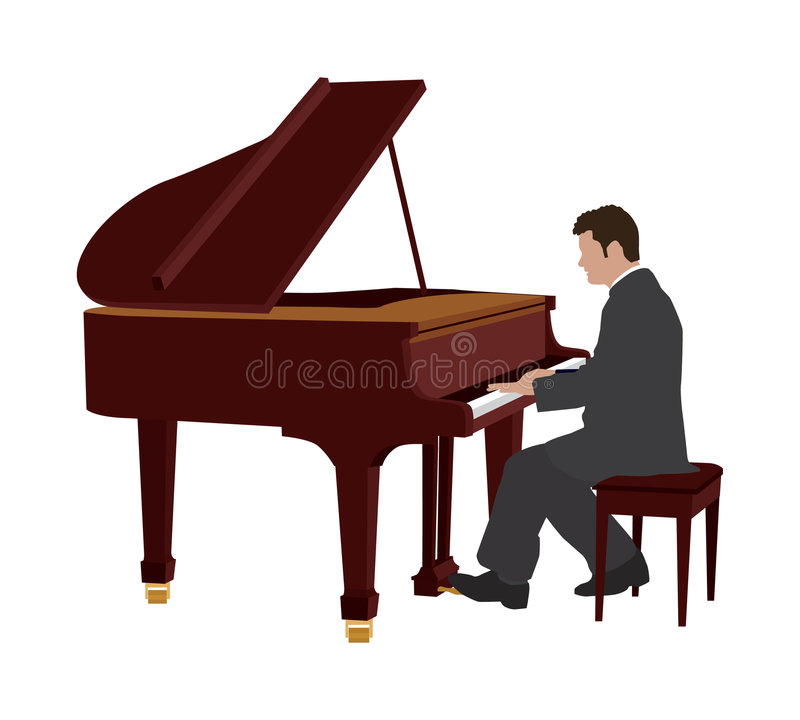 pianospelare vektor illustrationer