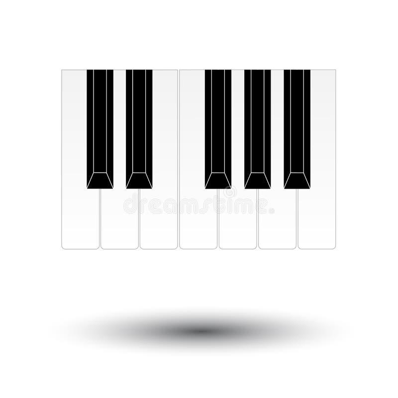Pianot stämm vektor illustrationer