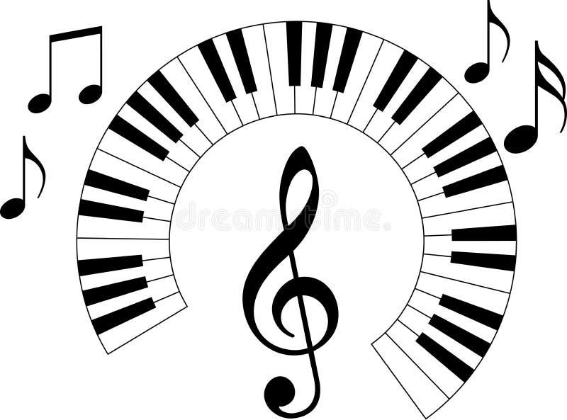 Pianotangentbord stock illustrationer