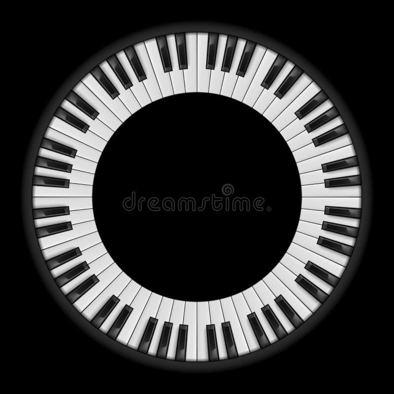 Pianotangenter royaltyfri illustrationer