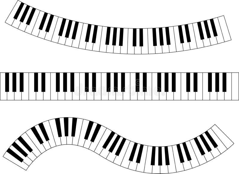 Pianotoetsenbord royalty-vrije illustratie