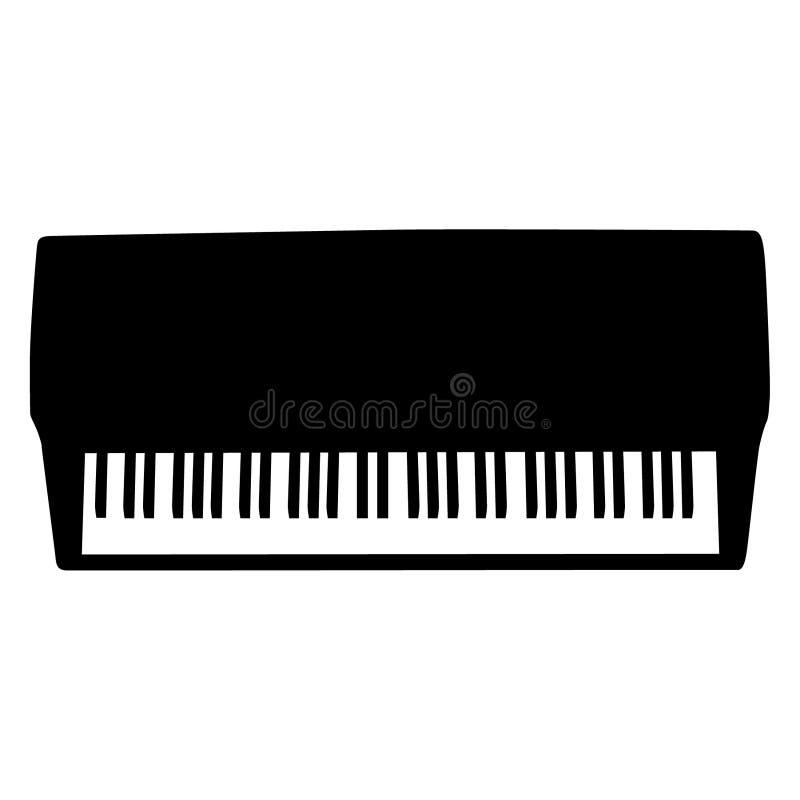 Pianotoetsenbord, getrokken Hand, Vector, Eps, Embleem, Pictogram, silhouetillustratie door crafteroks voor verschillend gebruik royalty-vrije illustratie