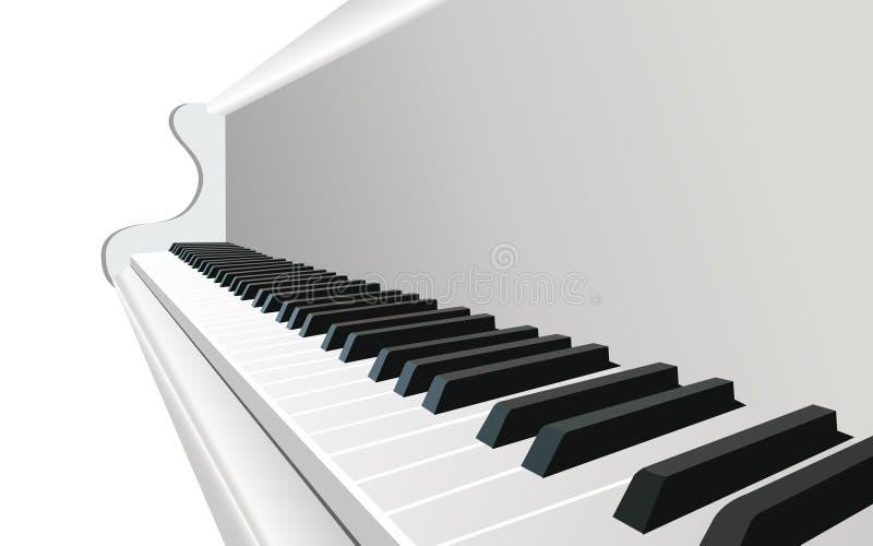 pianovektor royaltyfri illustrationer