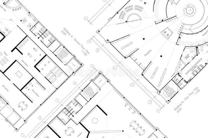 Pianta astratta di architettura illustrazione di stock
