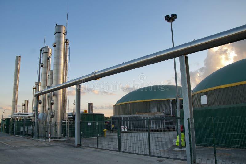 Pianta del biogas immagine stock