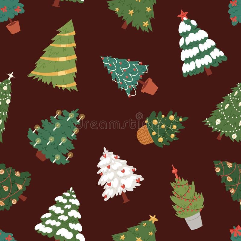 Pianta dell'albero del partito di stagione invernale di celebrazione di festa di progettazione del regalo di natale della stella  illustrazione di stock