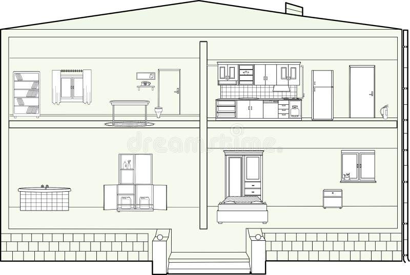 Pianta della casa fotografia stock immagine di domestico - Disegno pianta casa ...