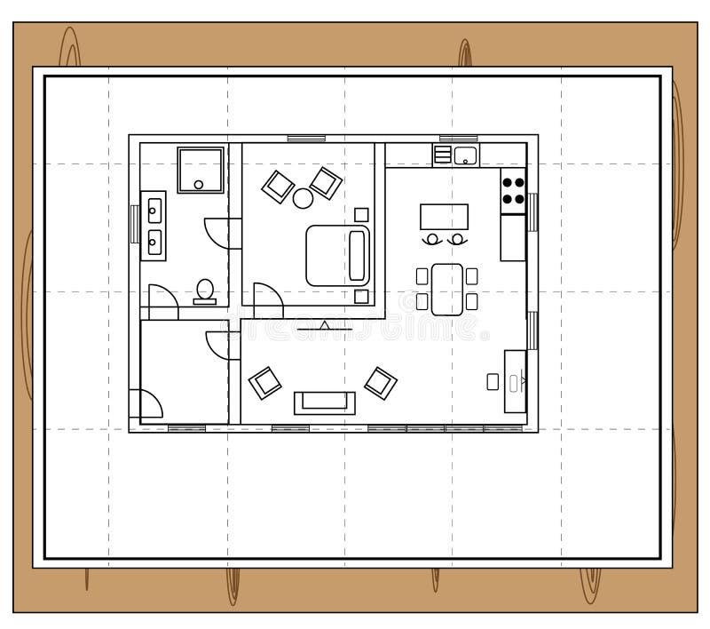 Pianta della casa illustrazione vettoriale illustrazione for Disposizione della casa libera