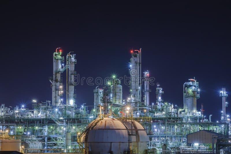 Pianta della raffineria di petrolio e del gas immagini stock libere da diritti