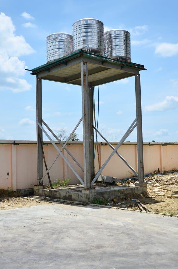 Pianta della torre del serbatoio di acqua fotografia stock libera da diritti