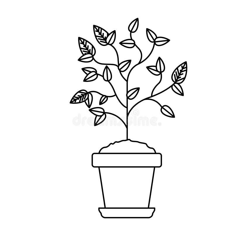 Pianta dentro progettazione del vaso illustrazione vettoriale