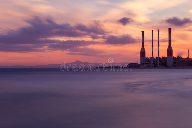 Pianta di elettricità nel Cipro fotografia stock
