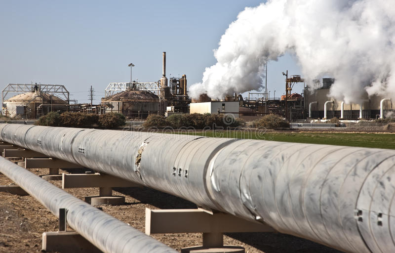Pianta di energia geotermica California immagine stock libera da diritti