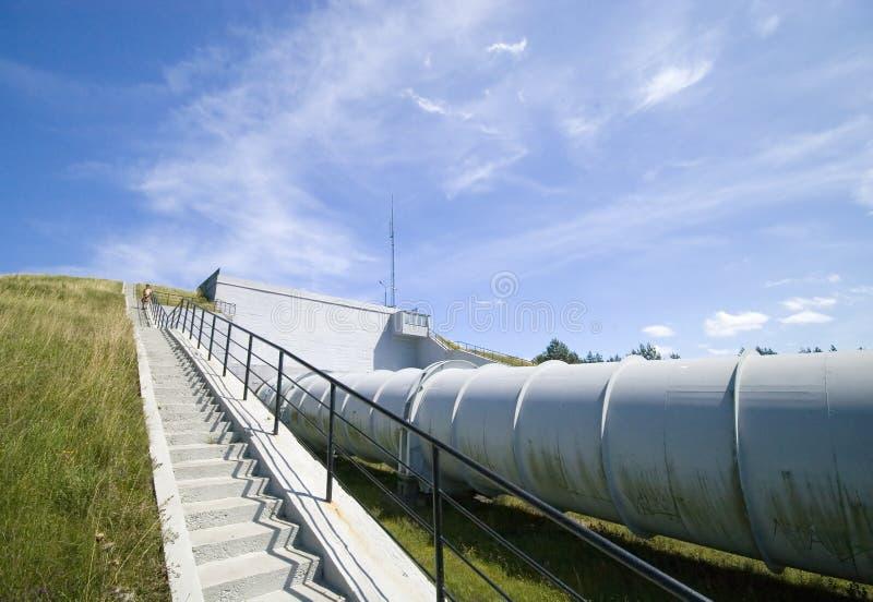 Pianta di energia idroelettrica. fotografia stock