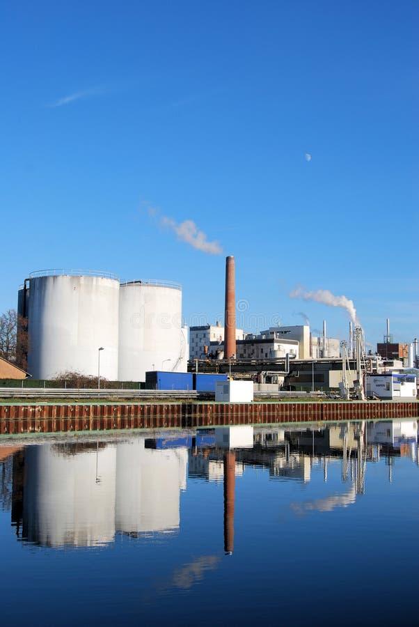 Pianta di industria chimica immagini stock libere da diritti