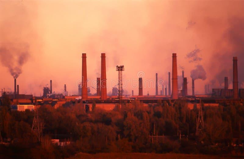 Pianta di metallurgia fotografie stock