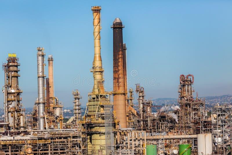 Particolare della pianta di raffineria del combustibile derivato del petrolio immagine stock libera da diritti