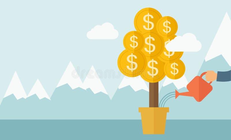 Pianta di soldi crescente royalty illustrazione gratis