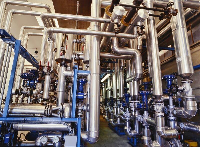 Pianta, industria chimica immagine stock