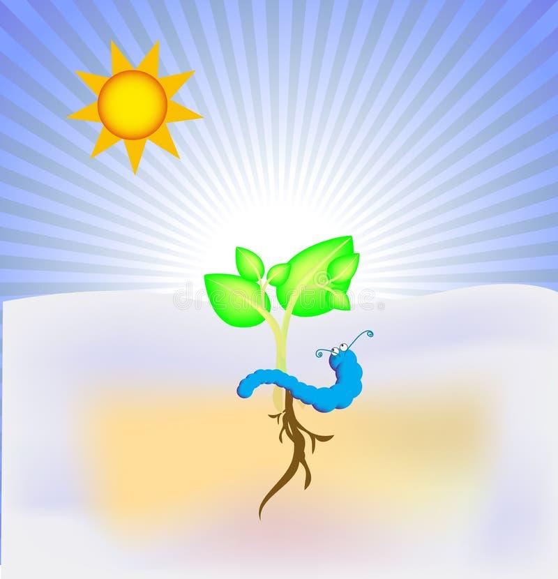 Pianta sana di Swirly royalty illustrazione gratis