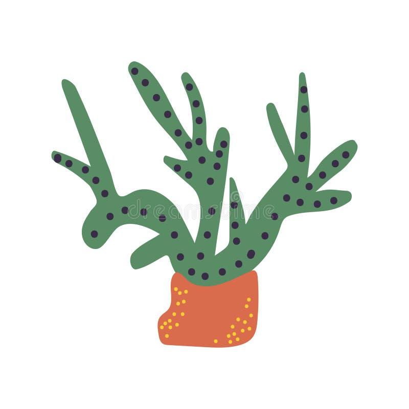 Pianta subacquea verde delle alghe, del marinaio o dell'acquario, illustrazione di vettore illustrazione vettoriale