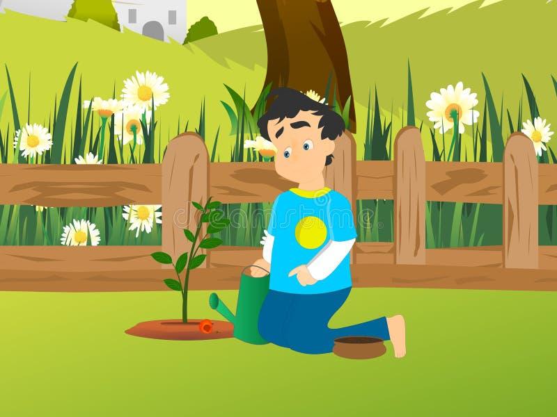 Piantatura della pianta illustrazione di stock