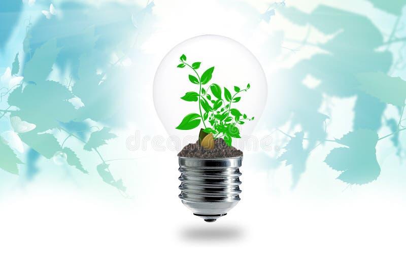 Piante di giardinaggio su un'energia pura illustrazione vettoriale