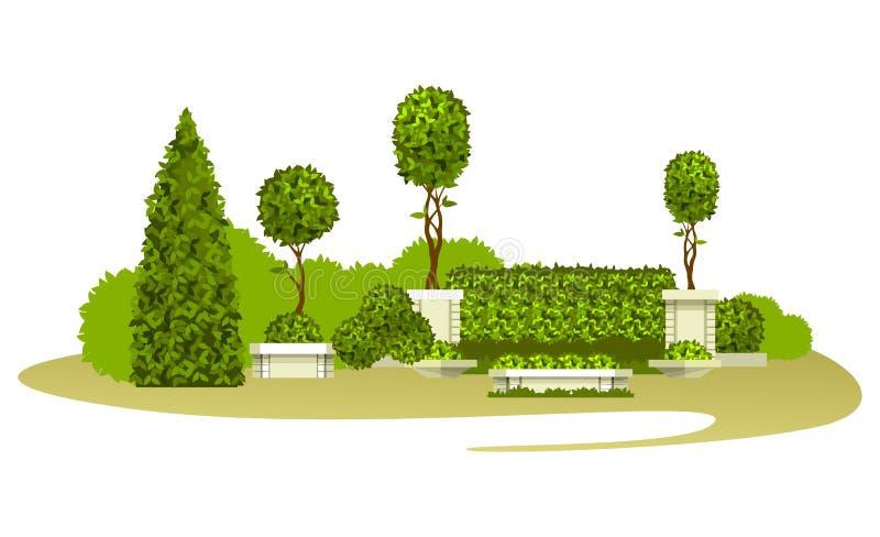 Piante di giardino dell'ars topiaria royalty illustrazione gratis