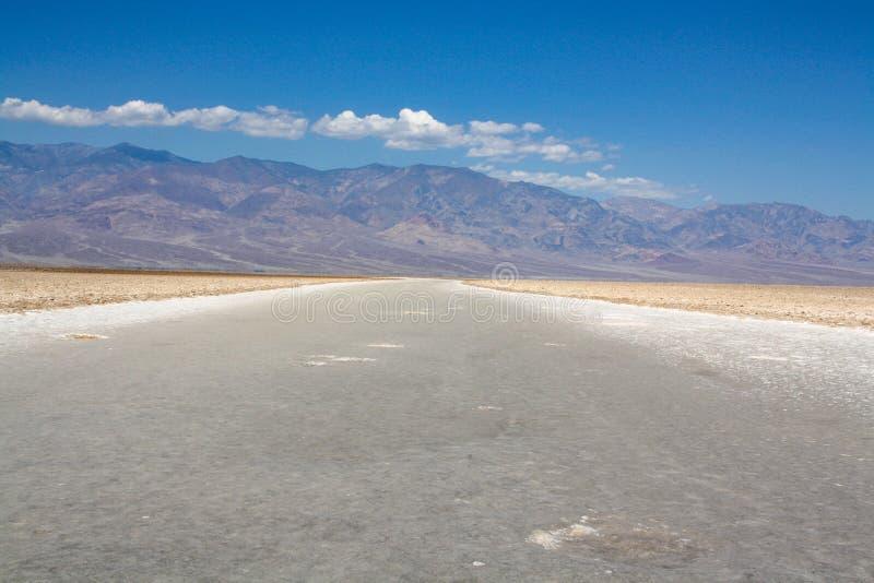 Pianure del sale al bacino di Badwater fotografia stock