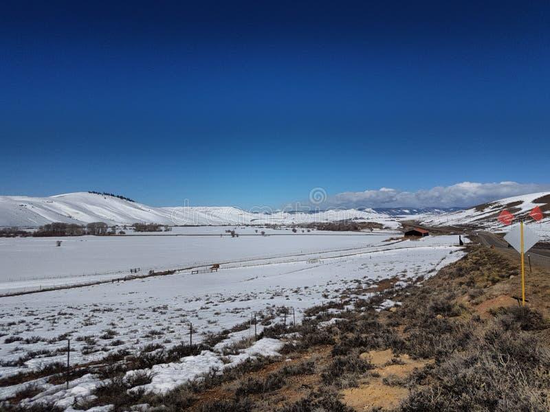 Pianure di Snowy immagine stock