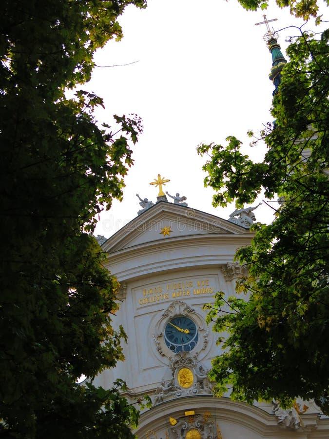 Piarist命令的教会在维也纳 库存图片