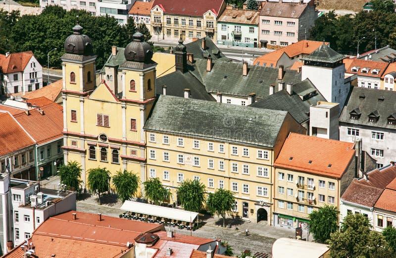 Piaristkerk van heilige Francis Xaversky, Trencin, Slowakije stock fotografie