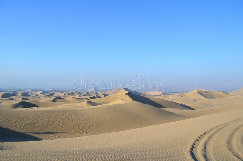 Piasek diuny w Huacachina pustyni, Ica, Peru fotografia stock