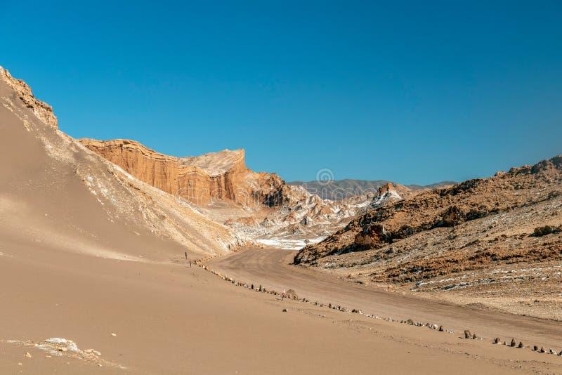 Piasek diuny w księżyc Valle de Dolinnym losie angeles Luna, Atacama pustynia, Chile zdjęcia stock