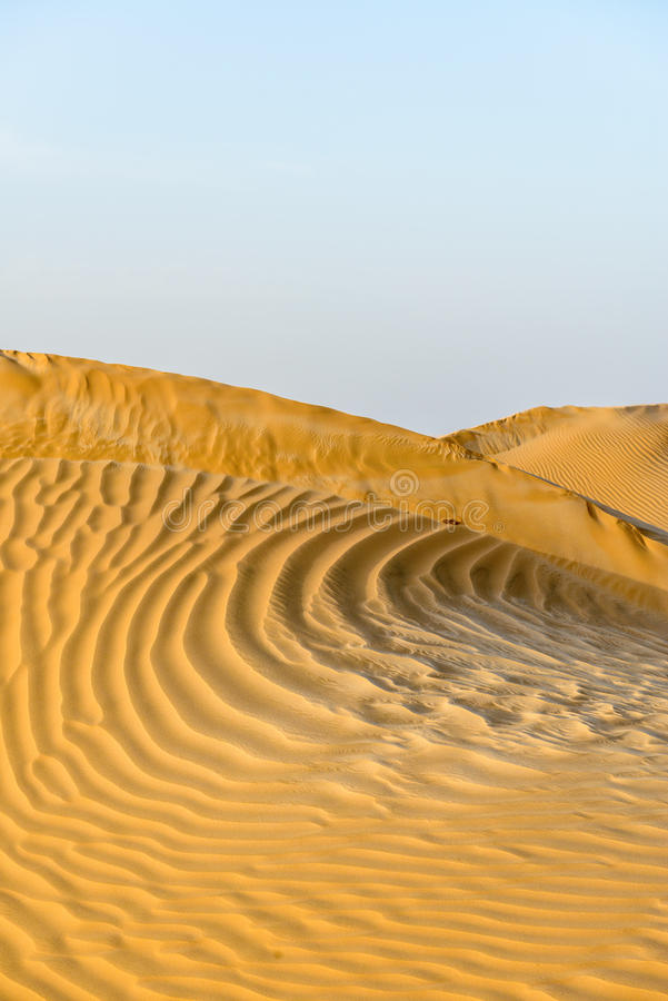 Piasek diuny w Oman pustyni (Oman) zdjęcia stock