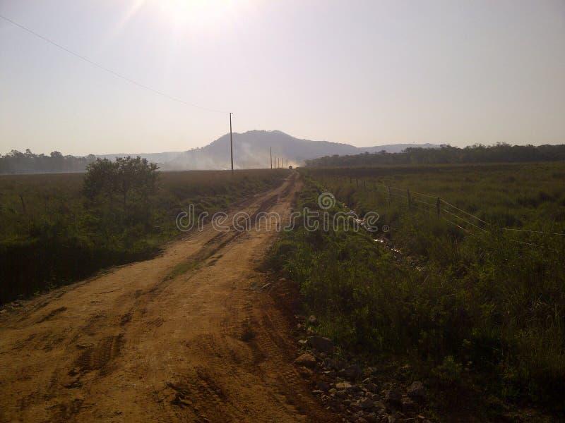 Piasek droga w wsi fotografia royalty free