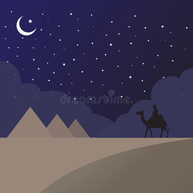 Piasek Egipt ilustracji